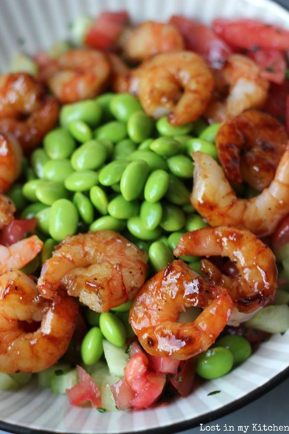 Lost in my Kitchen: Salade de crevettes teriyaki