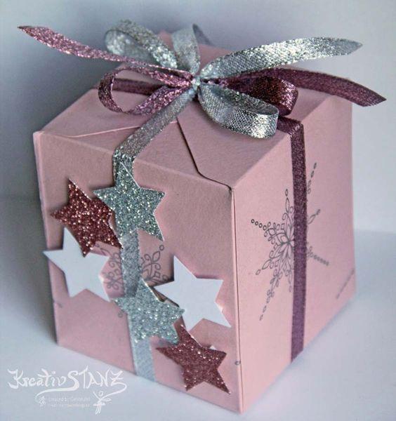 Kreativ-Stanz – Stampin' Up! Geschenkbox Sterne mit dem Envelope punch board  #winter #stars  http://kreativstanz.bastelblogs.de/ Kreativstanz – Stampin' Up!