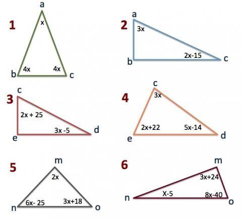 ángulos Interiores Del Triángulo Angulos Matematicas Actividades De Geometría Calculo De Angulos