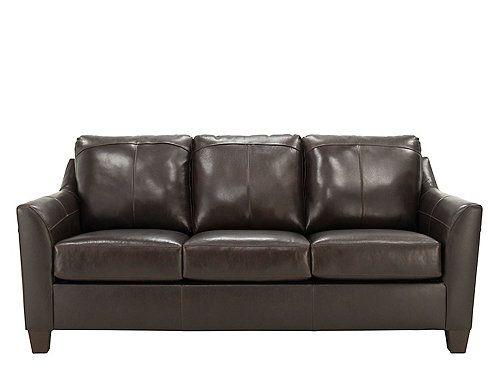 Raylen Leather Queen Sleeper Sofa Sofa Living Room Spaces Modern Sleeper Sofa