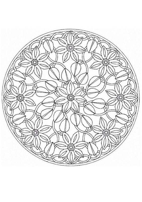 Mandala Coloring Pages Advanced Level   Mandalas for ...
