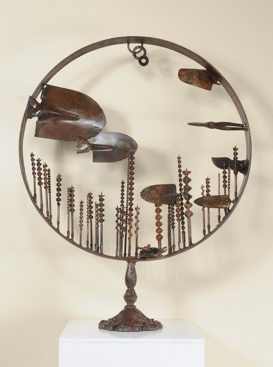Major display of James Kitchen sculptures in Springfield, Mass. 01-19-2012: