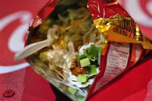 I remember my first time having Tacos in a bag -but I didn't have to because I make them all the time now! Fun for kids to eat too! No cleanup!