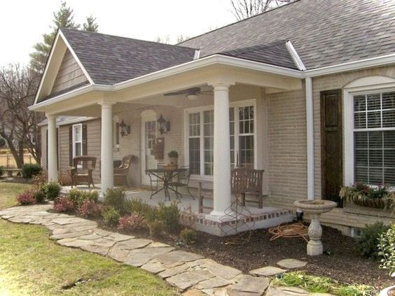 Cottages Dream Homes Porch Swings Little Cabin Patio Products Porches Front Porches In 2020 Ranch House Designs Porch Remodel Ranch House Remodel