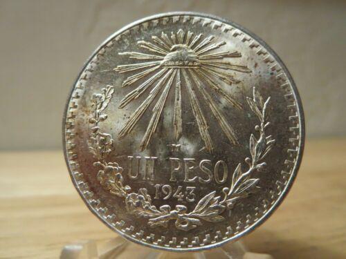 1934 MEXICO .720 SILVER 1 PESO NICE CHOICE BU