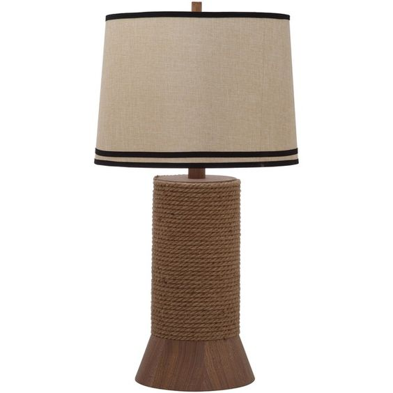 Thom Filicia Indoor 1-light Hemp Brown Alex Bay Table Lamp