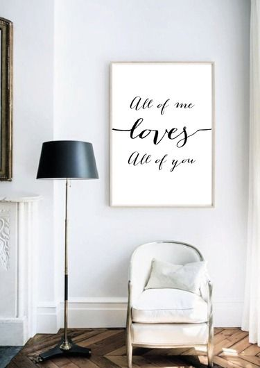 "Kunstdruck / Artprint ""All of me loves all of you"""