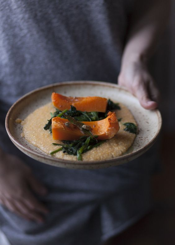 Braised Butternut Squash + Polenta: Fast Slow-Food: