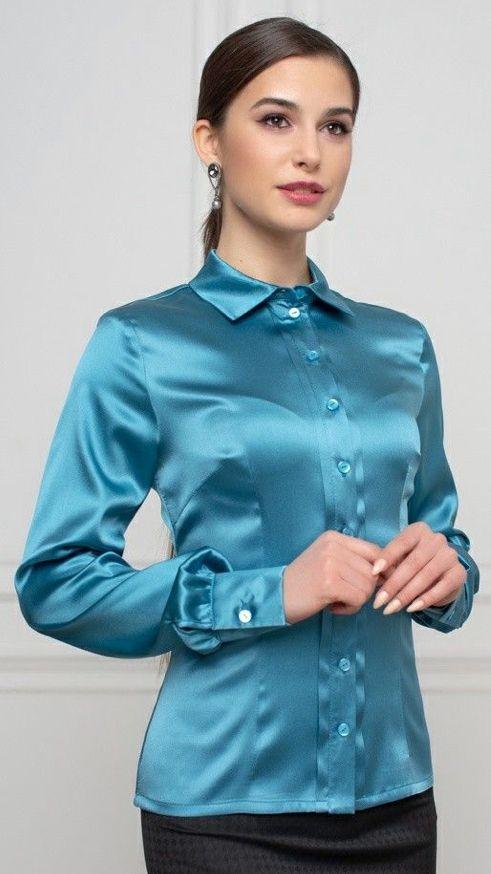 Satin blouse | Satin blouses, Beautiful blouses, Satin dresses
