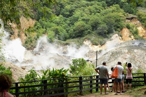 St Lucia Volcano, The Worlds Only Drive In Volcano
