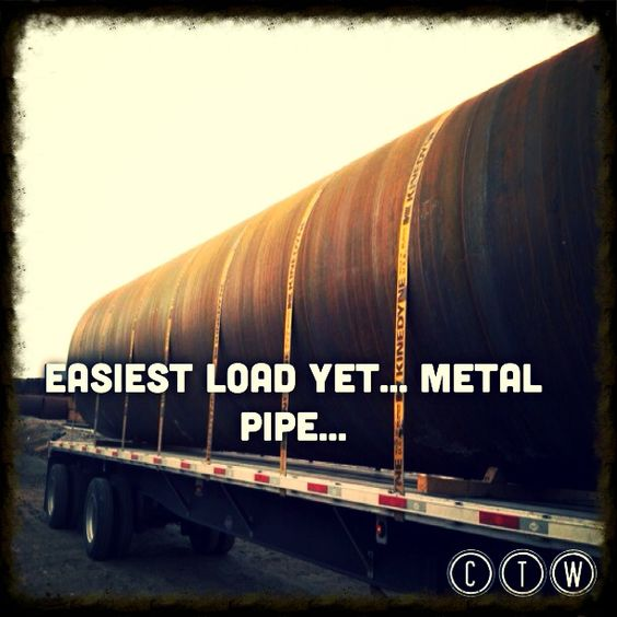 Metal pipe load