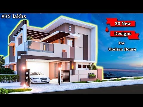 30 Front Elevation Designs For Double Floor House 2 Floor House Elevation Double Floor Elevation Youtu Front Elevation Designs House Elevation Modern House