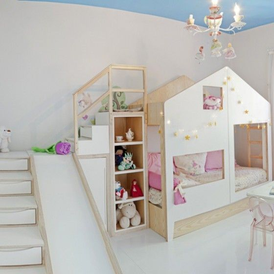 Betten Kinder 1 In 2020 Bed With Slide Kids Bedroom Mommo Design