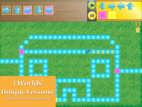 Kodable - A fun iPad app designed for younger kids that has them controlling fuzzballs to complete each level.  Each level deals w/ a simple concept of programming and gets more advanced as they get higher.