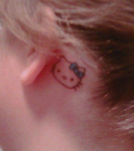 My Hello Kitty tattoo.