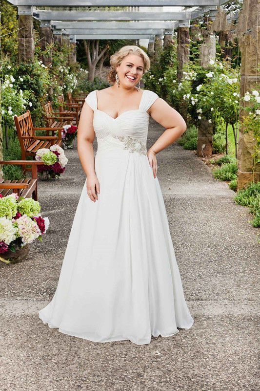 hot plus size chiffon bridal gown wedding dress custom size12 14 16 18 20 22 24