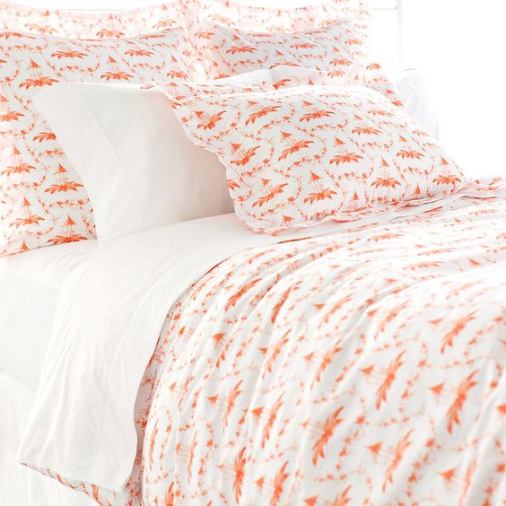 An 1880s document was the inspiration for this updated classic. Annie streamlined the pattern to highlight its sinuous shape, and reimagined it in fresh new colors. This cozy cotton duvet is soft and durable and come in two fresh new colors.