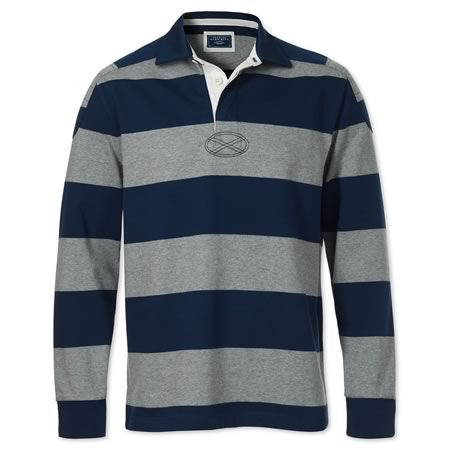 Navy charcoal rugby shirt men 39 s polo shirts from for Mens dress shirts charles tyrwhitt