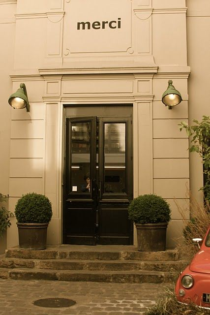 simple, charming.: Intriguing Storefronts, French Doors, Front Doors, Biz Storefronts, Places Spaces, Front Door Planters