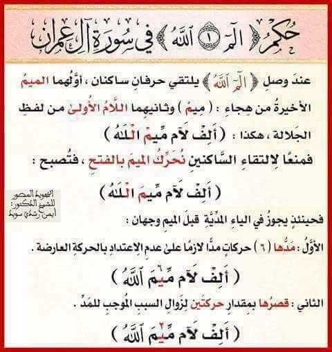 Pin By الراجية عفو ربها On أحكام التجويد مصورة ورش عن نافع Quran Book Arabic Words Words