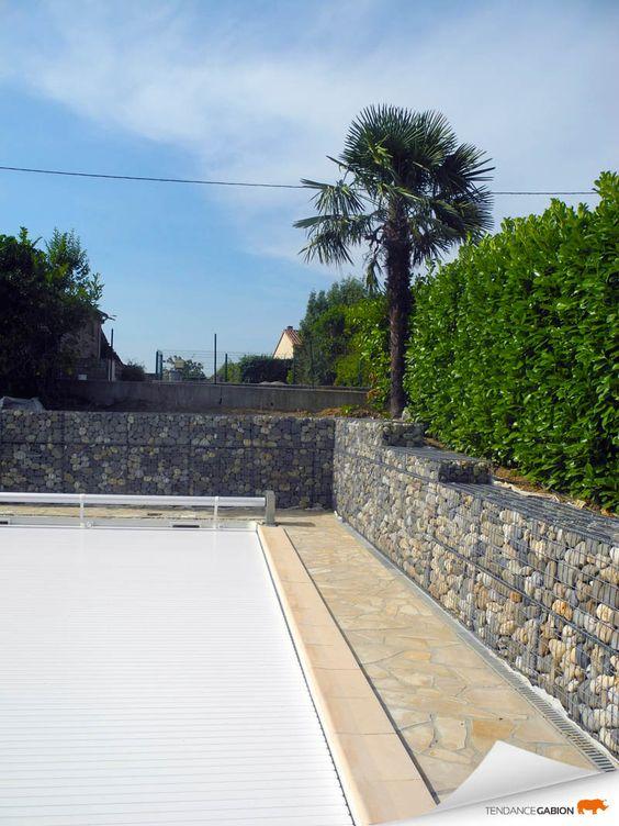 Tendance gabion petit sout nement autour d 39 une piscine for Autour d une piscine