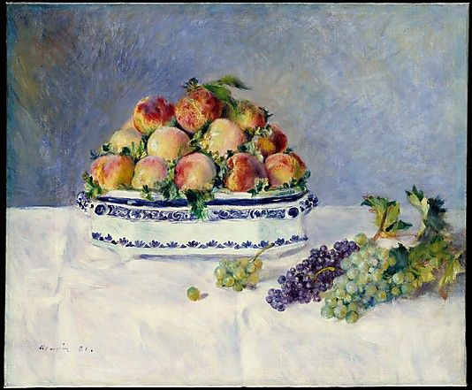 Auguste Renoir (French, 1841–1919). Still Life with Peaches and Grapes, 1881. The Metropolitan Museum of Art, New York. The Mr. and Mrs. Henry Ittleson Jr. Purchase Fund, 1956 (56.218):