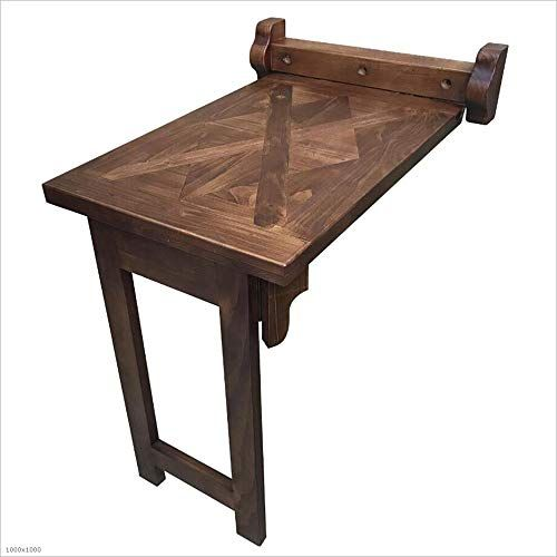 Xiaolin Table Wall Table Solid Wood Folding Dining Table Small Size Collapsible Telescopic Wall Hanging Table Writing Des Wall Table Dining Table Hanging Table