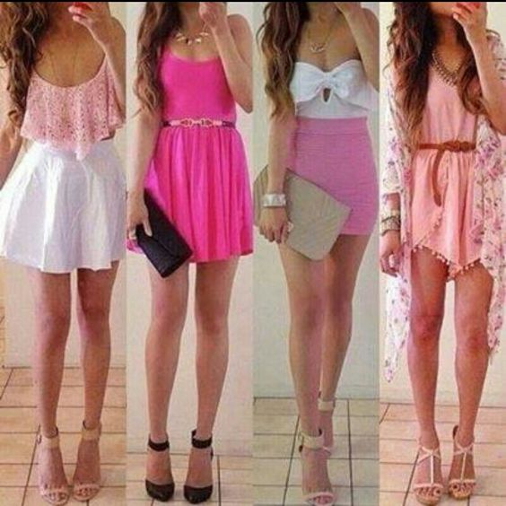 Cute pink outfits