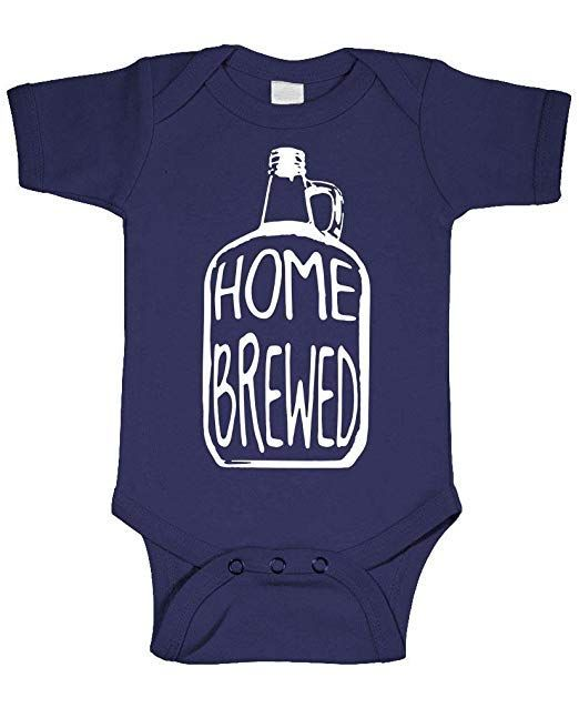 HOME BREW BEER LOVER Unisex Cotton Baby One Piece Funny Romper Gift Boy Girl
