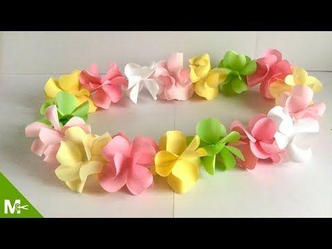 Cómo Hacer Un Collar Hawaiano En 5 Minutos Youtube Como Hacer Collares Hawaianos Manualidades Collares Hawaianos