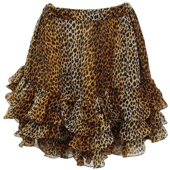 D Frill Hem Skirt ($355) ❤ liked on Polyvore
