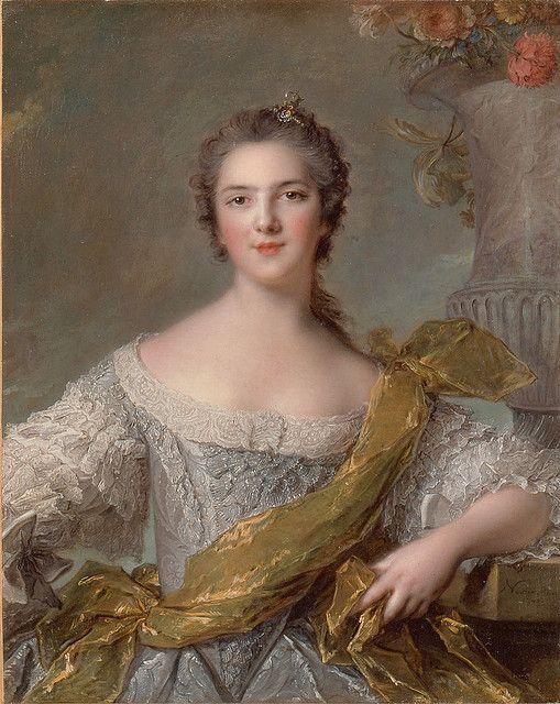Jean-Marc Nattier (1685 - 1766) FR . Princess Victoire Louise marie thérèse de France 1748 (1733-1799) Séptima hija de Luis XV y Marie Leszczynska. Sobrevivió a la Revolución junto a su hermana María Adelaida, al salir de Francia en 1791, residiendo en Italia y después en Corfú.