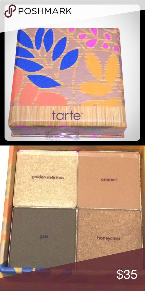 Tarte quad shadow  pallete Tarte quad shadow pallete- outer seal broken but otherwise unused EUC tarte Makeup Eyeshadow