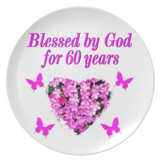 PINK FLORAL CHRISTIAN 60TH BIRTHDAY DESIGN DINNER PLATES http://www.zazzle.com/jlpbirthday/gifts?cg=196545043849107961&rf=238246180177746410 #60yearsold #Happy60thbirthday #60thbirthdaygift #60thbirthdayidea #happy60th #Christian60th #60thprayer