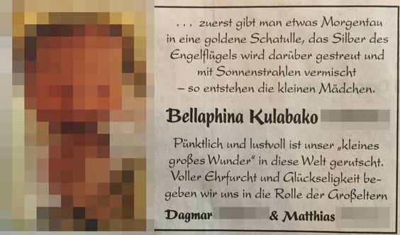 Mainzer Allgemeine Zeitung vom 14.2.2015 … kann man sich nicht ausdenken. Bellaphina Kulabako