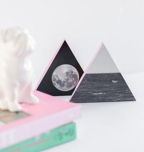 How to make triangle shaped photo frames