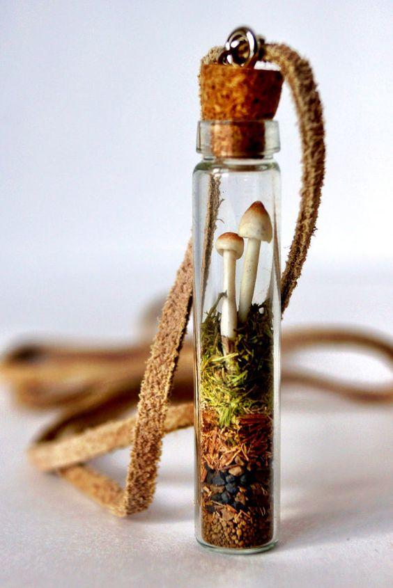Woodland Mushroom Terrarium Necklace: