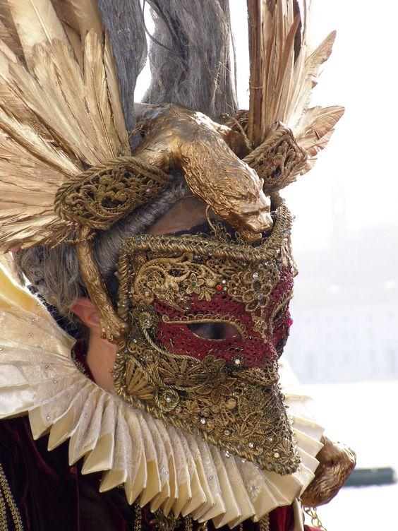 Ornate Bauta Mask. Venice Carnival 2013 by Lesley McGibbon