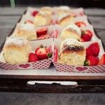 {strawberry shortcake in a basket