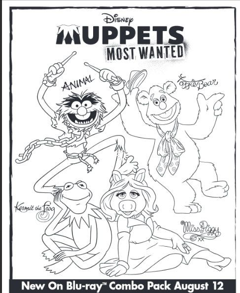 Free Disney Muppets Most Wanted Printable Activities Coloring
