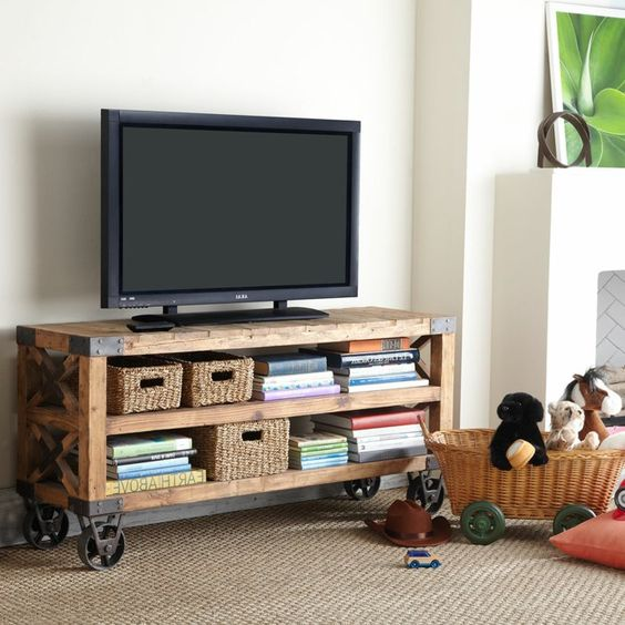 Table basse industrielle meuble TV pour le salon