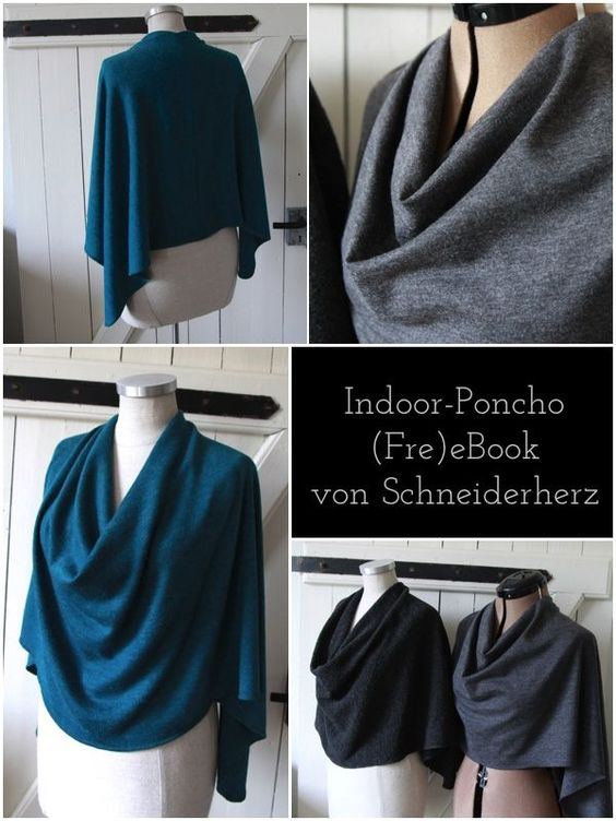 ebook freebook anleitung poncho indoor cape n hen diy n hen kleidung pinterest ponchos. Black Bedroom Furniture Sets. Home Design Ideas