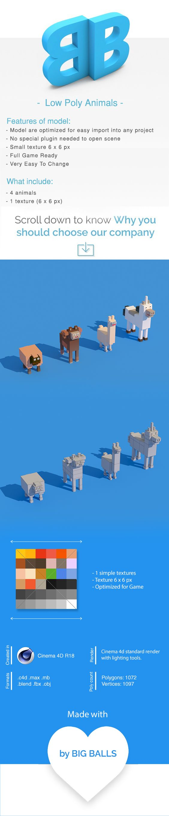 Low Poly Animals - 1