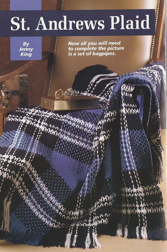 Crochet Pattern Plaid Afghan : Plaid Afghan Crochet Pattern - St. Andrews Tartan Stuff ...