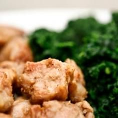Chicken Cutlets And Sautéed Kale (via www.foodily.com/r/yCT7uvU8B)