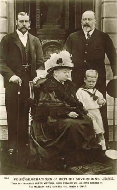 Four Generations of British Sovereigns. Queen Victoria, King Edward VII, King…