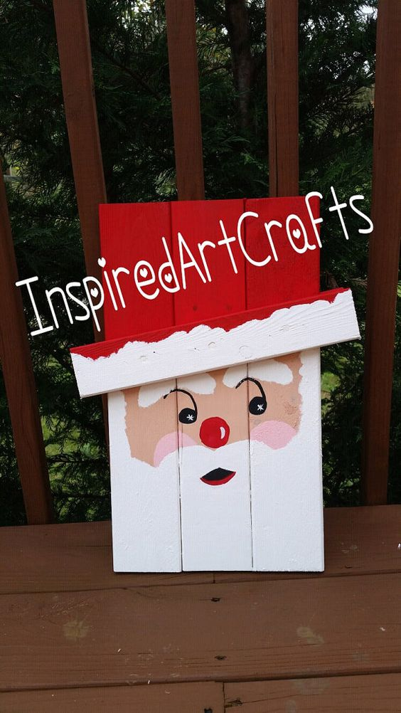 Pick two faces small wooden reversible by for Wooden christmas crafts to make