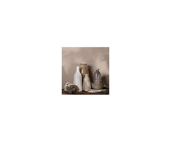 Jarrón de cerámica - blanco