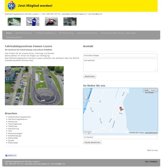 Verkehrstrainigszentren, Fahrtrainingszentrum, Training, Test, Fahrkurse