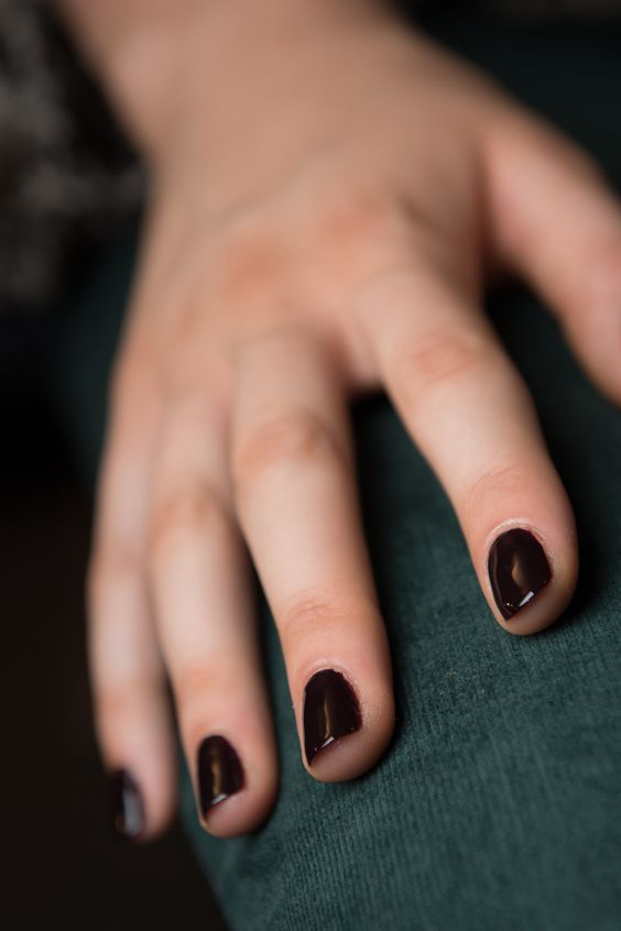 The perfect vamp nail at Derek Lam Spring 2016: